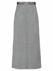Miu Miu checked midi skirt - Grey
