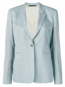Paul Smith single breasted check blazer - Blue