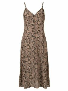 FRAME snakeskin print slip dress - Multicolour