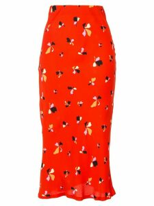 Rebecca Vallance abstract floral-print skirt - Red