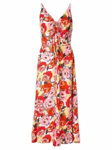 Rebecca Vallance Blume floral-print slip dress - Red