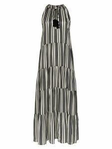 Figue stripe-print maxi dress - Black