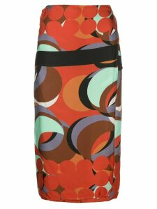 Alexis red eclipse wrap skirt - Multicolour