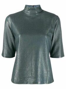 Filippa-K Amber metallic slim-fit T-shirt - Blue