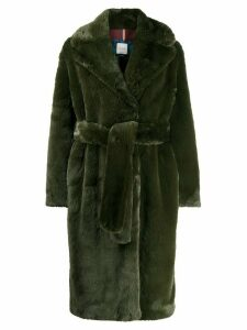 Paul Smith oversized belted coat - Green
