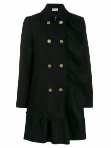 Red Valentino RED(V) ruffled midi coat - Black