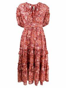 Ulla Johnson floral print flared dress - PINK