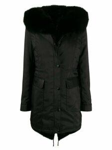 Philipp Plein statement fur coat - Black
