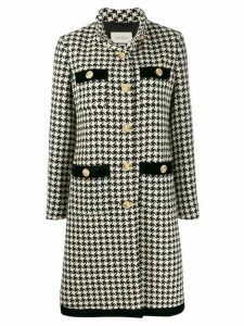 Gucci houndstooth print single-breasted coat - Black