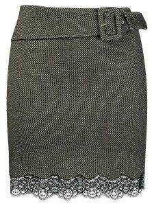 Patrizia Pepe lace detailing mini skirt - Black