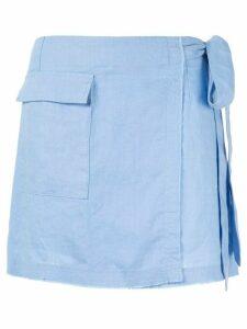Venroy mini wrap skirt - Blue
