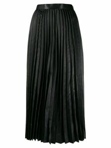Junya Watanabe Comme des Garçons Pre-Owned pleated maxi skirt - Black
