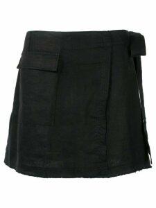 Venroy mini wrap skirt - Black