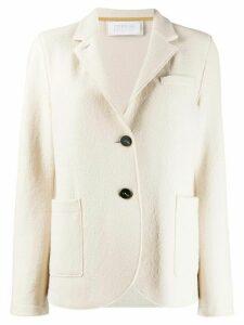 Harris Wharf London curved hem buttoned blazer - NEUTRALS