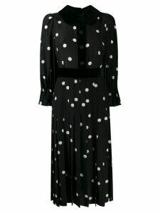 Dolce & Gabbana polka-dot print pleated dress - Black
