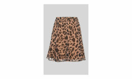 Brushed Cheetah Flippy Skirt