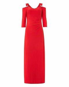 Roman Cold Shoulder Diamante Maxi Dress