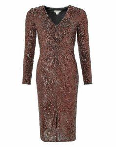 Monsoon Rosie Sequin Midi Dress
