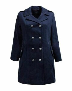 Lovedrobe GB Navy Double Breasted Coat