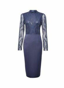 Womens **Showcase Grey 'Kiera' Embellished Midi Dress, Grey