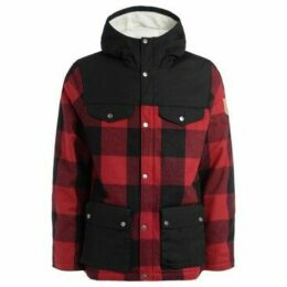 Fjallraven  Parkland model Greenland Re-Wool in red and black wool  women's Coat in Other