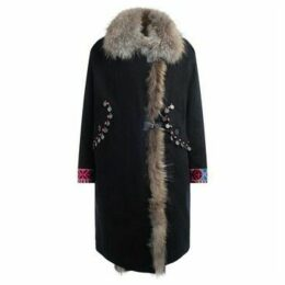 Bazar Deluxe  Parka black with fur collar  women's Parka in Other