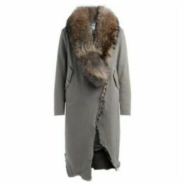 Bazar Deluxe  Taupe Parka with fur collar  women's Parka in Beige