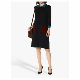 L.K.Bennett Melanie Colour Block Knit Dress, Navy