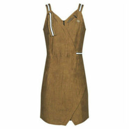Mado Et Les Autres  Dress with original straps and pleats  women's Dress in Brown