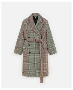 Stella McCartney Multi-Colour Check coat, Women's, Size 14