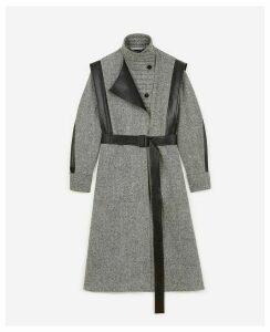 Stella McCartney Black Oversize Belted Coat, Women's, Size 12