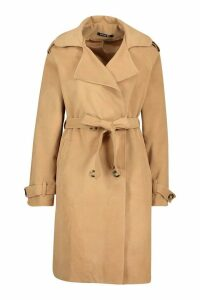Womens Tall Military Double Breasted Wool Look Coat - beige - 16, Beige