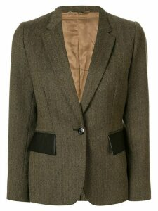Gucci Pre-Owned contrasting pockets fitted blazer - Brown
