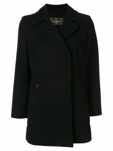 Fendi Pre-Owned thumb length slim-fit coat - Black