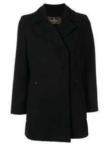 Fendi Pre-Owned thumb length slim-fit coat - Black