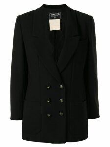 Chanel Pre-Owned 1995 peaked double-breasted blazer - Black