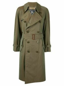 Burberry Pre-Owned iridescent below-the-knee trench coat - Green