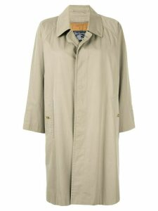 Burberry Pre-Owned straight buttoned coat - Brown