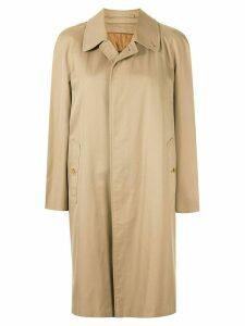 Burberry Pre-Owned straight midi rain coat - Brown