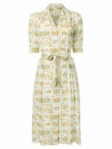 Hermès Pre-Owned Victorian illustration dress - Multicolour