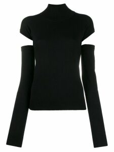 Romeo Gigli Pre-Owned 1990s cut-out detail jumper - Black