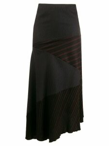 Romeo Gigli Pre-Owned 1990s asymmetric striped skirt - Black