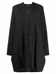 Romeo Gigli Pre-Owned 1990s knee-length relaxed coat - Black