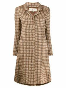 Romeo Gigli Pre-Owned fair isle pattern coat - Brown