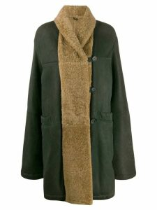 Romeo Gigli Pre-Owned 1990s relaxed fit knee-length coat - Green