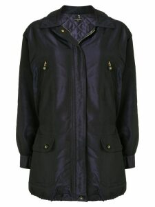 Chanel Pre-Owned CC button coat - Purple