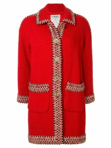 Chanel Pre-Owned CC single-breasted coat - Red