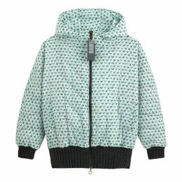 Cat Print Padded Jacket with Hood