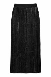 Plissé midi skirt in sparkly jersey