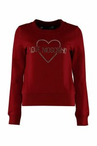 Love Moschino Cotton Crew-neck Sweatshirt With Logo